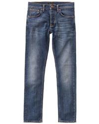 Nudie Jeans Sentimental Blue - Blau
