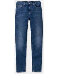Carhartt Pantalon W Bix Bleu Foncé Stone Washed
