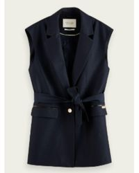 Maison Scotch Https://www.trouva.com/it/products/maison-scotch-tailored-herringbone-waistcoat-navy - Blu