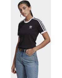 adidas T-shirt à 3 rayures Adicolor Classics - Noir