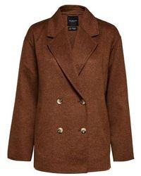 SELECTED Lena Handmade Jacket Blazer Daschund - Brown