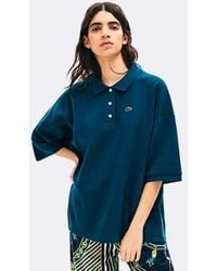 Lacoste Polo Live Loose Fit - Bleu