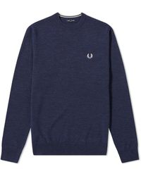 Fred Perry Classic Crew Knit - Blue