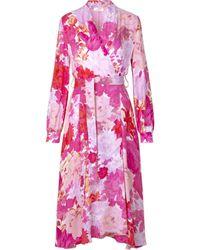 Stine Goya Reflection Silk Mix Dress - Pink