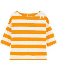 Petit Bateau Https://www.trouva.com/it/products/petit-bateau-womens-yellow-stripe-top-with-bow - Giallo