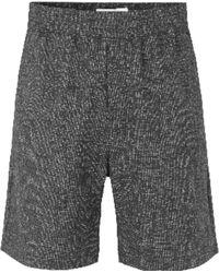 Samsøe & Samsøe Sennan Shorts Black Melange - Negro