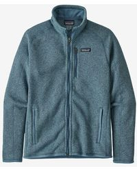 Patagonia Chaqueta tipo suéter para hombre Pigeon Blue Better - Azul