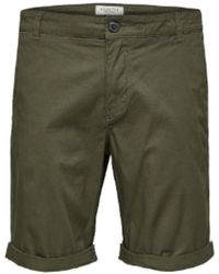 SELECTED Https://www.trouva.com/it/products/selected-homme-khaki-paris-chino-shorts - Verde