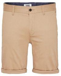 Tommy Hilfiger Short kaki Tommy Jeans Essential Chino - Neutre