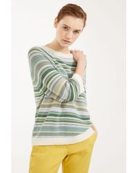 Weekend by Maxmara Pull bleu clair en fil de coton Natalin - Vert