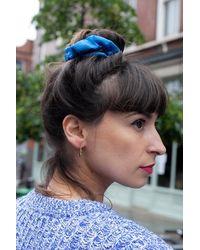 Stine Goya Hair Scrunchy Blue - Azul