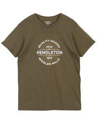 Pendleton Productos calidad t shirt oliva - Verde