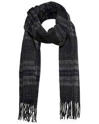 SELECTED Écharpe en laine Tope Check - Multicolore