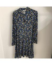 Minimum Https://www.trouva.com/it/products/-bindie-floral-blue-print-midi-dress