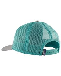 Patagonia Pastel P-6 Label Layback Trucker Hat Drifter para mujer, gris - Multicolor