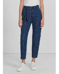 J Brand Athena Utility Waist Tie Jeans - Blue