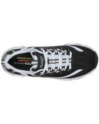 Skechers Zapatos de hombre D Lites en blanco y negro - Multicolor