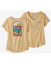 Patagonia T Shirt Ws Sunset Sets Organic Vela Peach - Multicolour