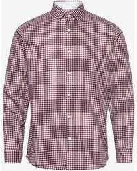 SELECTED Camicia a quadri bordeaux - Rosso