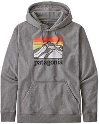 Patagonia Ms Line Logo Ridge Uprisal Hoody Gravel Heather - Gray