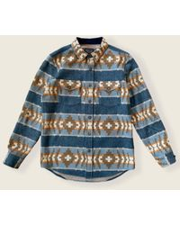 Pendleton Https://www.trouva.com/it/products/-la-pine-overshirt-banded-stripe-navy-1 - Multicolore