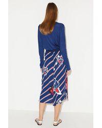 By Malene Birger Ultramarine Regular Fit Biella Skirt - Blue