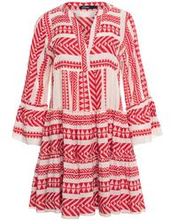Devotion - Robe de broderie Zakar Red - Lyst
