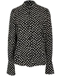 Essentiel Antwerp Van Polka Dot Shirt - Black