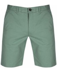 Farah Hawk Chino Twill Short Green Biscuit - Grün