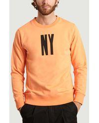 Saturdays NYC Sweat-shirt NY Letterpress - Orange