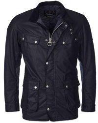 Barbour Duke Wax Jacket Navy - Bleu