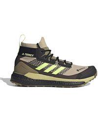 adidas Terrex Free Hiker Gore-tex Hiking Shoes Savanna / Hi-res Yello / Core Black