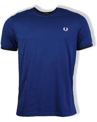 Fred Perry Medieval Blue Twin Tipped T-shirt