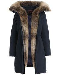 Woolrich Midnight Blue Polyester Luxury Boulder Coat