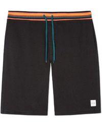 Paul Smith Jersey Shorts Black Stripe