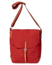 Ally Capellino Bolso satchel de algodón encerado Brick Jonny - Rojo