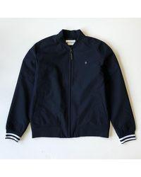 Farah Rich Navy Slade Bomber Jacket - Blue