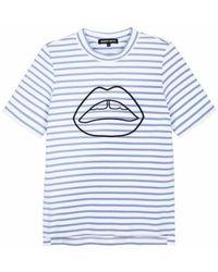 Markus Lupfer Camiseta rayas Ivy Ponte - Azul