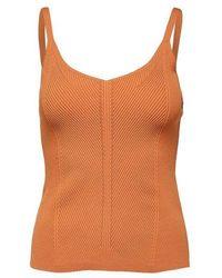 SELECTED - Haut en tricot Caramel - Lyst