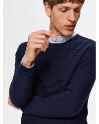 SELECTED Ausgewählte Männer Marine Pullover für Männer - Blau