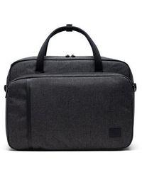 Herschel Supply Co. Gibson Messenger Bag Rayas cruzadas negras - Negro