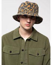 Nudie Jeans Martinsson Safari Hat Leopard - Verde