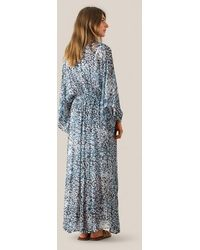 Second Female Robe Clouds Maxi Faded Denim - Bleu