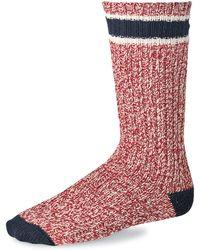 Red Wing Gestreifte Woll-Ragg-Socken Rot