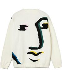 Lacoste Beige Printed Knit Jersey - Multicolor