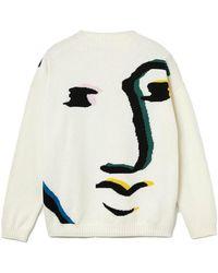 Lacoste Jersey lavorato a maglia beige stampato - Multicolore
