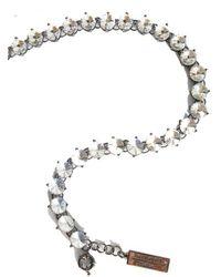 Weekend by Maxmara Collar de diamantes de imitación de cristal Umes - Metálico
