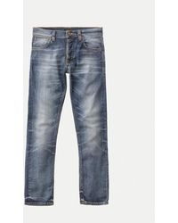 Nudie Jeans - Grim Tim Jeans Indossato In Rotto - Lyst