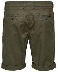 SELECTED Paris Chino Shorts Khaki - Green