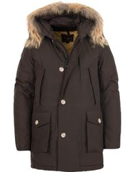 Woolrich Parka Arctic Wood DF Coton Marron - Multicolore